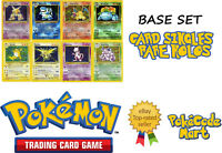 Pokemon TCG Base Set Rare Holo Card Selection (/102) Clefairy Vaporeon etc
