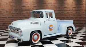 Motor Max DDA Collectibles 1:24 Scale Gulf Oil 1956 Ford F-100 Pickup Truck Ute