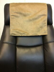 """Camel 30"""" x 30""""  Recliner Head Rest Cover Suede faux Sofa Love seat Chaise"""