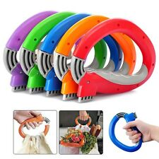 Useful Trip Grips Shopping Grocery Bag Holder Labor Saving Handle Carrier Lock W