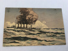 WWI German BATTLESHIP  postcard