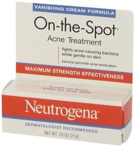 Neutrogena On-the-Spot Acne Treatment Vanishing Cream 21g - Shipped in box