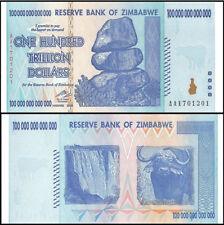 Zimbabwe 100 Trillion Dollars 2008 AA P.91, Guaranteed authentic Unc