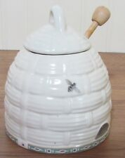 Pfaltzgraff Naturewood Honey Pot with a Wooden Dipper