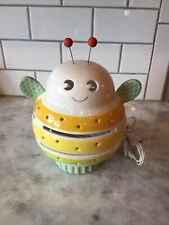 Bubble Bee Ceramic Table Lamp Night Light Nursery Pastel Colors On Off Switch