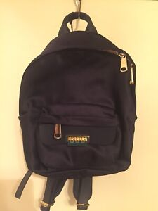Zac Posen Eartha Small Satin Backpack, Navy Blue $250
