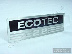 New OEM ECOTEC 2.2 Aluminum Nameplate Engine Block Intake Manifold Emblem Decal