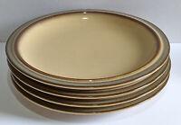 Denby Sonnet - Brown / Beige / Cream Design - 4 x Side / Bread Plates - Plse Rd.