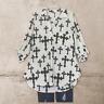 1X 2X 3X  Boho Hippie Peasant Cross V neck top tunic 3/4 sleeve white Black  USA