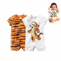 Cartoon Animal Tigger Baby Boys Newborn Kids Children Rompers Bodysuits Clothes