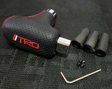 TRD Universal Black Leather Automatic Transmission Shift Knob For Toyota