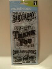 Inkadinkado Clear Stamps-EXPRESS YOURSELF Entièrement neuf sous emballage * Look *