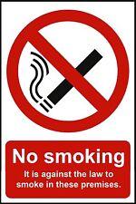 3 x no smoking sécurité signes Autocollant Vinyle pour Voiture Fenêtre Porte Mur De Verre