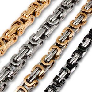 Königskette Panzerkette Königsarmband Halskette Edelstahl Damen Herren Armband