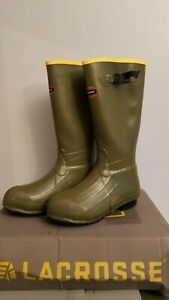 """Lacrosse 18"""" Burly Air Grip Rubber Boots Men's Size 12"""