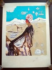 "SALVADOR DALI ""The Earth Goddess"" LITHOGRAPH SIGNED & NUMBERED PRINT with COA"