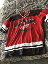 DETROIT RED WINGS Jersey Youth Shirt Boys Size XL 18-20 X-Large Jersey Redwings