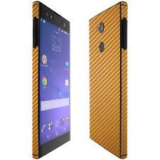 Skinomi TechSkin Gold Carbon Fiber & Screen Protector for Sony Xperia XA2 Ultra