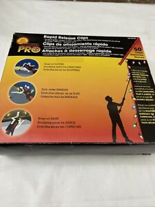 50 No Ladder Pro Rapid Release Clips - Christmas Lights Gutters/Shingle/Eaves