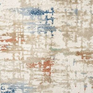 Dense Pile Painterly Rugs | Distressed Contemporary Area Rug | Super Soft Runner