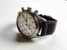 IWC 3717-02 Spitfire Chronograph On OEM IWC Flieger Band