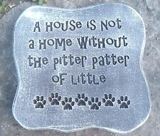 "Pitter patter dog cat mold concrete plaster mould 11"" x 10.5"" x .75"""