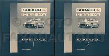 1993-1994-1995 Subaru Impreza Shop Manual Set OEM Repair Service