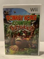 Donkey Kong Country Returns Game Complete! Nintendo Wii Clean Everything!