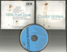 CRYSTAL WATERS 100% pure love 7TRX RARE REMIXES 1994 LIMIT USA CD Single percent