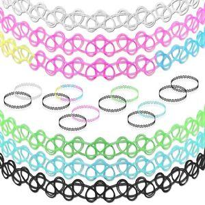 Kinder Halsband Halskette Henna Tattoo Kette Set Elastisch Choker Damen Mädchen