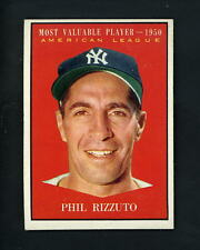 1961 Topps # 471 Phil Rizzuto MVP 1950 EX+++ cond New York Yankees JCM/1