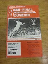 07/02/1978 Football League Cup Semi-Final: Liverpool v Arsenal  (Creased, team c