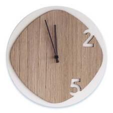 Orologio da parete Clock25 in legno chiaro 100% Made in Italy SF Design
