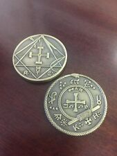Masonic Coin esoteric Scottish Rite Freemason Token medal Challenge occult penny