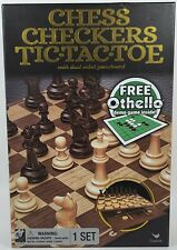 Chess Checkers Tic Tac Toe Dual Sided Gameboard 3 Games free demo othello gift