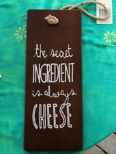 Wooden Kitchen Rectangle Decorative Plaques & Signs