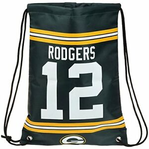 Aaron Rodgers #12 Green Bay Packers Jersey Backpack Drawstring gym sports Bag