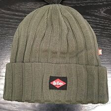 Lee Cooper Ribbed Beanie Hat Mens Warm Work Wear Pull on Lchat601 With Tags