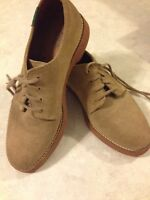 Bass Leather Suede Lace-up Oxfords size 5 N Light Brown Color EUC