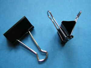 24x Foldback Klammern Vielzweckklammern Metall Büroklammer Dokumenten 15mm