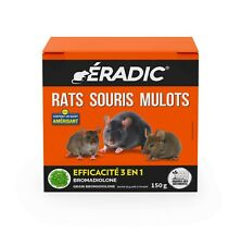 RATICIDE SOURICIDE RATS SOURIS MULOTS INFESTATION MODEREE GRAIN Au BROMADIOLONE