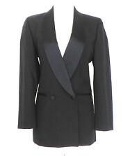FYR Macedonia Tuxedo Blazer Black 100% Wool Double Breasted Size 6R