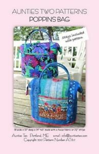 Aunties Two Poppins Bag Pattern Includes Two Stays