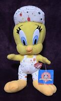 """1998 Looney Tunes Tweety The Painter Plush 11"""" With Tag"""