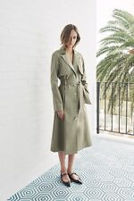 $800 SCANLAN & THEODORE Double Cotton Trench Coat - TAUPE - NEW - Size 8