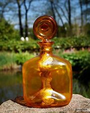 exklusive Karaffe Mundgeblasen Goldeinlage edel & wertvoll seltenes Sammlerstück