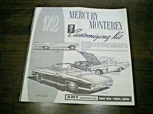 "AMT ""1962 Mercury CVT ""Original 3-in-1 Model Car Instruction sheet from 1962"