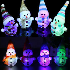 Magical LED Snowman Santa Claus Ornament Christmas Tree Light Decoration Gift