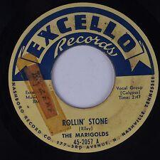 THE MARIGOLDS: Rollin' Stone EXCELLO R&B 45 Doo Wop HEAR IT