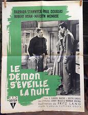 LE DEMON S'EVEILLE LA NUIT - Monroe-LANG-1952-RKO 60x80 - Clash by Night